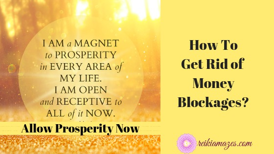 how to get rid of money blockages