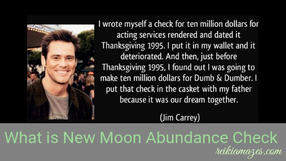 New Moon Abundance Cheque – An Easy Way to Manifest Your Dreams