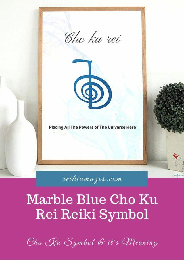 Marble Blue Cho Ku Rei Reiki Symbol