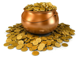 money reiki master's symbols-GOLD POT.