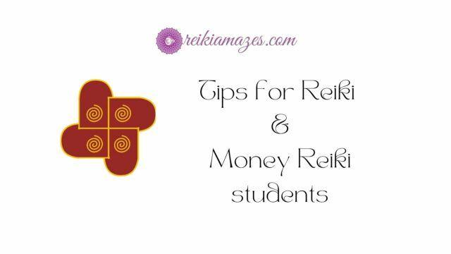 tips for reiki and money reiki students