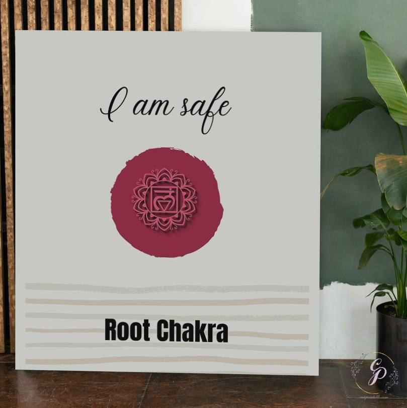 Root Chakra affirmation wall art