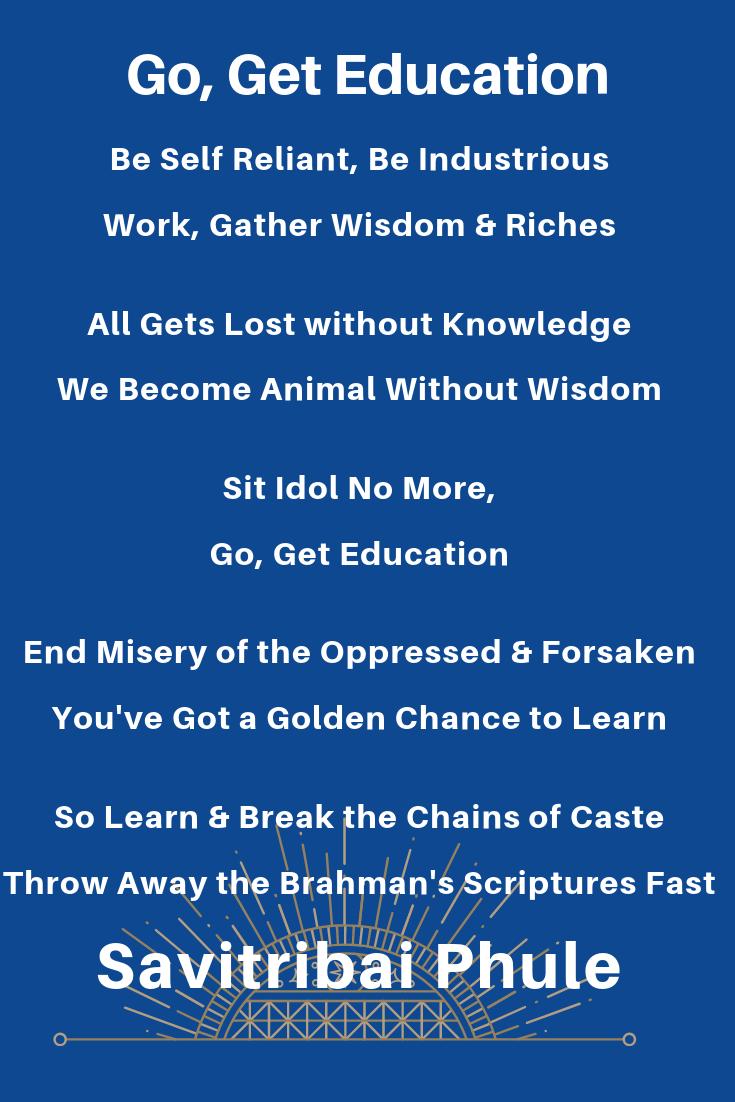 poem by Savitribai Phule