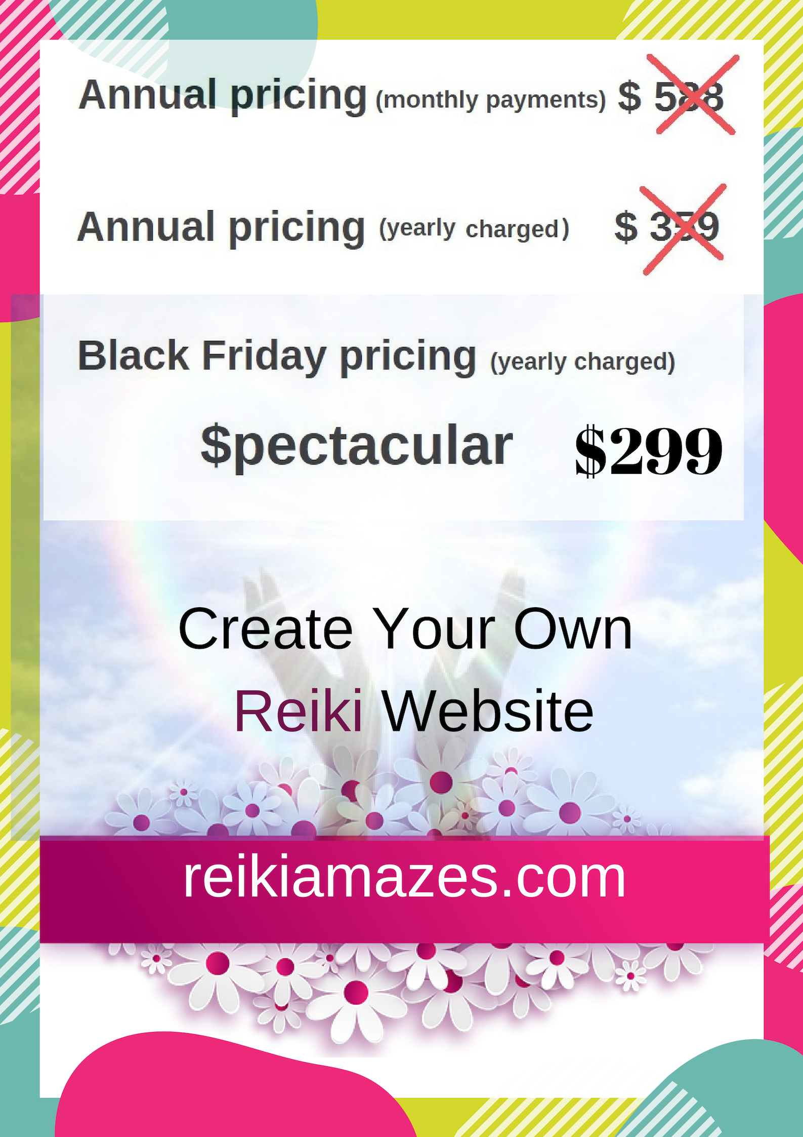 Wa black friday reiki banner