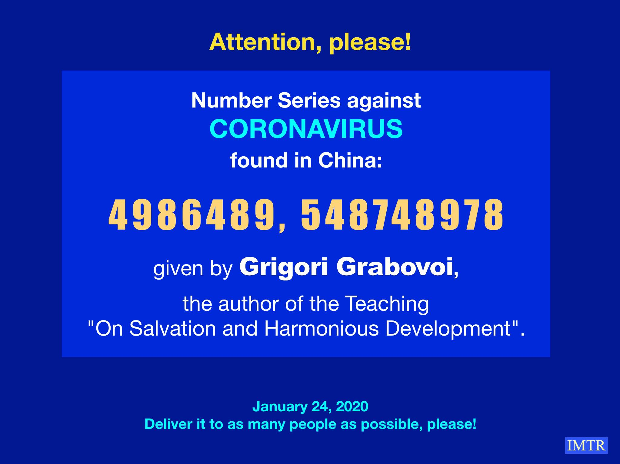 coronavirus grabovoi numbers